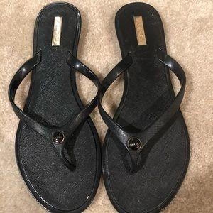 Black Aldo Flip Flops